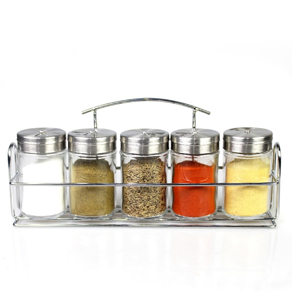 ETERLY Glass Cruet Seasoning Box Seasoning Jar Seasoning Bottle Kitchen Supplies Pepper Shaker Salt Shaker by ETERLY