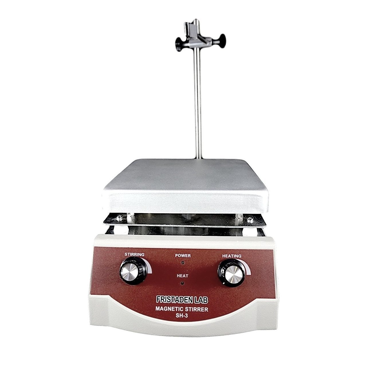 Fristaden Lab SH-3 Magnetic Stirrer Hot Plate, Stir Plate, Magnetic Mixer Dual Controls for Heating and Stirring 3,000mL, 100-1600rpm, 500W, 350°C by Fristaden Lab (Image #2)