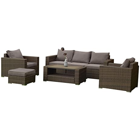 Amazon Tangkula 7 PCS Outdoor Patio Rattan Furniture Set