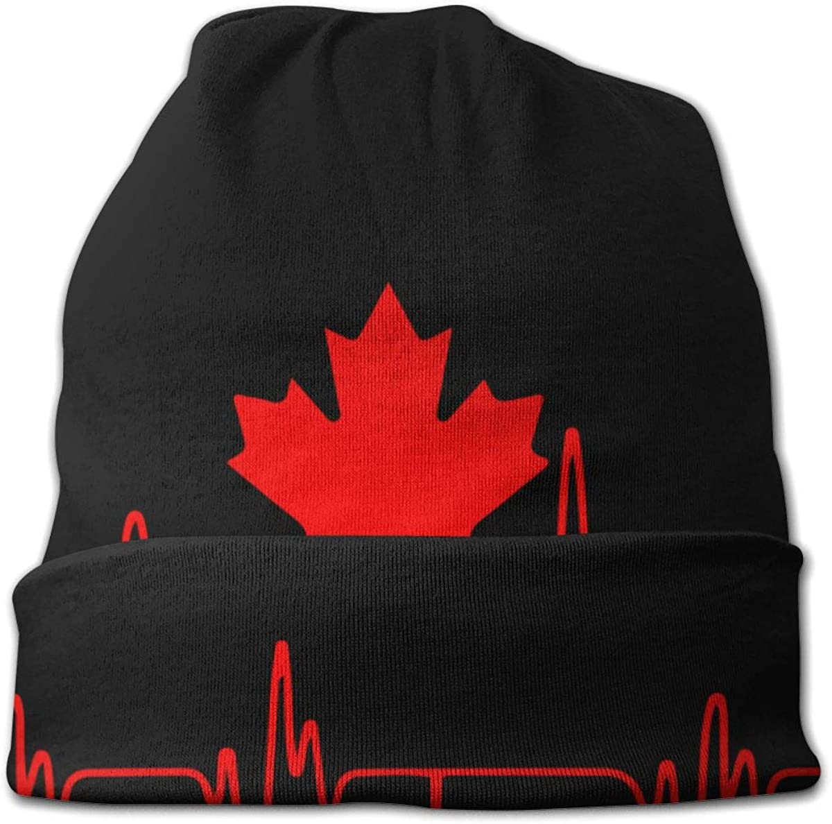 Heartbeat Canada Women Men Solid Color Beanie Hat Thin Stretchy /& Soft Winter Cap