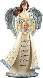 Collections Etc Lighted Memorial Angel Figurine