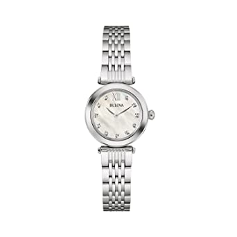 Bulova 96S167 Ladies Diamond Silver Steel Bracelet Watch