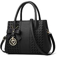Jeniulet Purses and Handbags for Women Ladies Fashion PU Leather Top Handle Satchel Shoulder Tote Bags