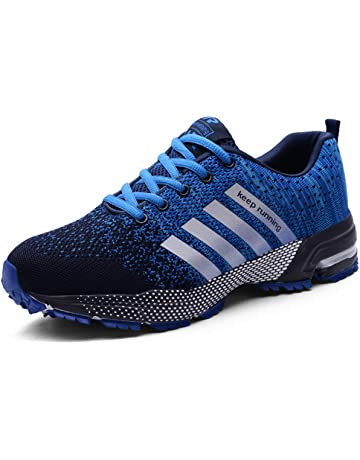 MUOU Zapatillas Deporte Hombre Zapatos de Entrenamiento para Hombre Malla Respirable Zapatillas Aptitud Ligero Deportes Zapatos