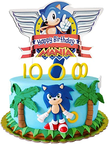 Amazon Com Cake Decorations For Sonic The Hedgehog Cake Topper Birthday Party Supplies Cupcake Toppers For Children Toys Games