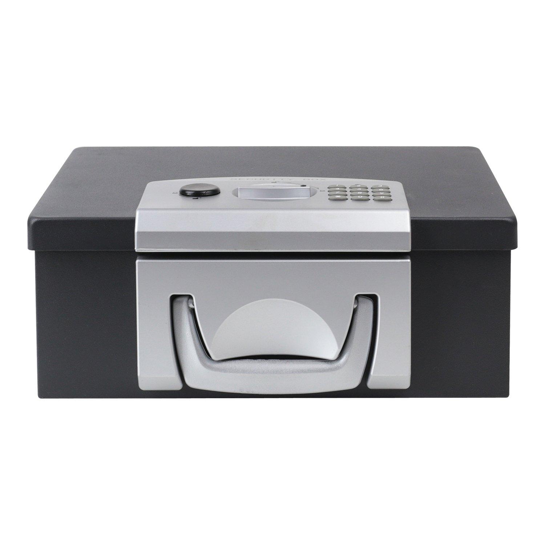 32,5 x 25,5 x 12,5 cm noir Caisse /à Monnaie verrou /électronique HMF 1006-02 Coffre-fort pour documents