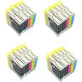 Lot de 20 cartouches d'encre génériques (non originale) compatibles avec les imprimantes suivantes : Brother DCP-130C DCP-135C DCP-150C DCP-153C DCP-157C DCP-330C DCP-350C DCP-353C DCP-357C DCP-535CN DCP-540CN DCP-560CN DCP-750CW DCP-770CW MFC-235C MFC-240C MFC-260CMFC-3360C MFC-440CN MFC-465CN MFC-5460CN MFC-5860CN MFC-660CN MFC-680CN MFC-845CW MFC-885CW FAX-1355 FAX-1360 FAX-1460 FAX-1560 . Remplacent les références d'origine: Brother LC1000BK LC1000C LC1000M LC1000Y