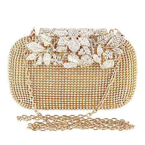 Purse Full TOPCHANCES Upgrade Bag Bag Women's Rhinestones Golden Wedding Evening Party Luxury Prom Silver Triangle Clutch wwvqCg5