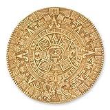 NOVICA Archaeological Advent Calendar Ceramic Plaque, Brown, 'Mexica Calendar'