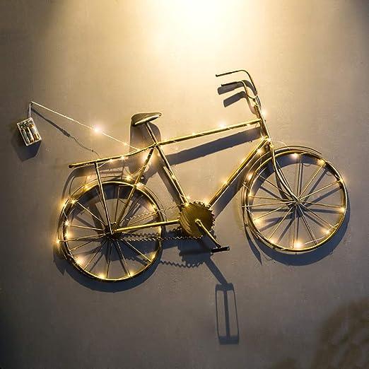 QBZS Decoración de Pared Decoración de Pared de Hierro Forjado - Accesorios de Bicicleta for Colgar en la Pared del Comedor - tapices de Barra 90.5 * 6 * 59cm (Color : A): Amazon.es: Hogar