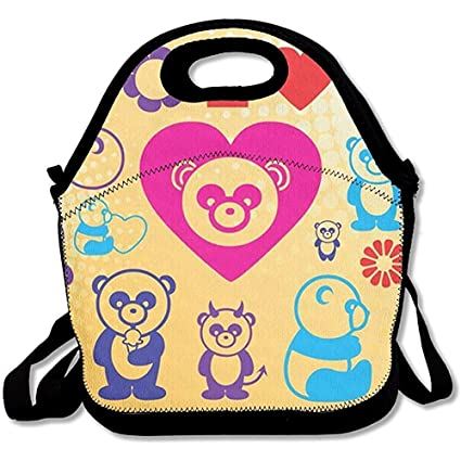 56c915791256 Amazon.com - GRATIANUS10 Panda Love Cool Lunch Bag Cool -