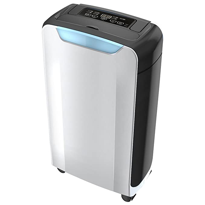 Eurgeen Compact 20 Pint Portable Dehumidifier with Humidity Sensor, Timer, 2 Speed Settings & Auto Shut Off. Ideal for Home Kitchen Bathroom Basements Garage