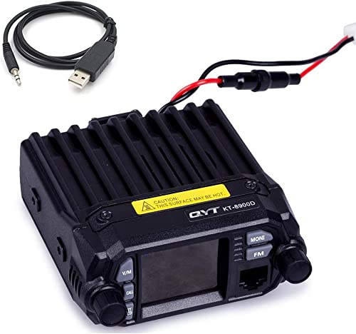 QYT KT-8900D Upgraded 2nd Gen. Mobile Transceiver Dual Band Quad Standby VHF UHF 136-174 400-480MHz Mini Car Radio Amateur HAM Radio W Free Cable