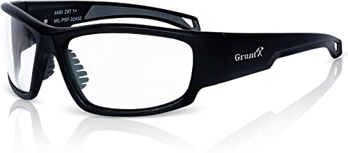 GruntX Ballistic Shooting Safety Glasses & Sunglasses for Men, Polarized & Clear, ANSI z87.1+, Tactical Safety for: Gun Range, Military, Hunting,...