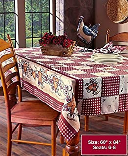 Linda Spivey Kitchen Decor Table Cloth Linens Primitive Country Hearts  Stars TableCloth Or Napkins Kitchen Collection
