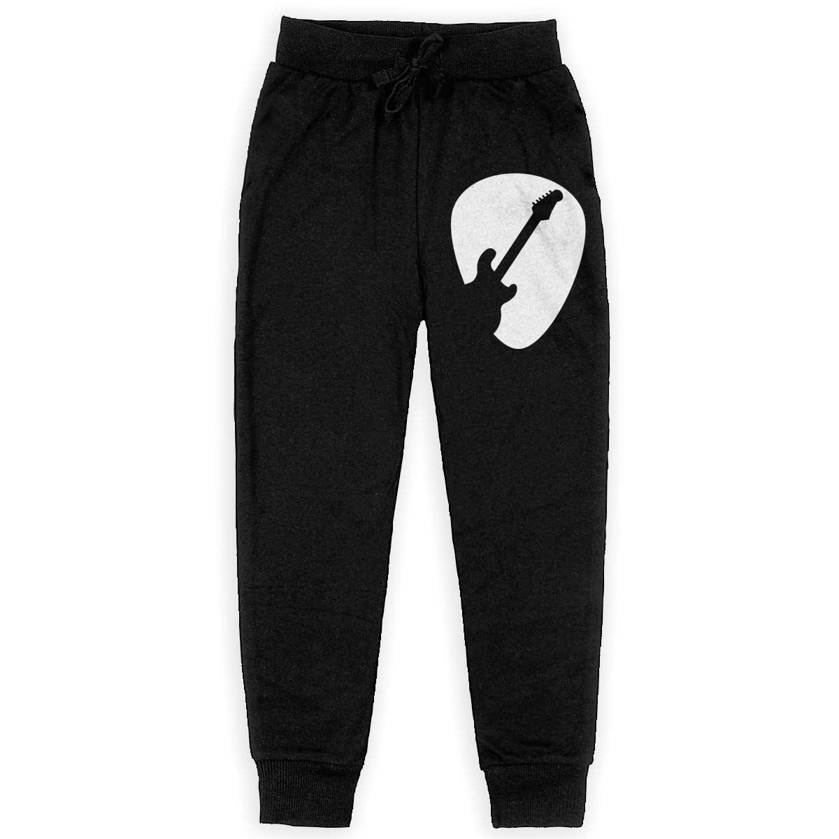 Guitar Pick Silhouette Soft//Cozy Sweatpants Boys Active Pants for Teenager Boys