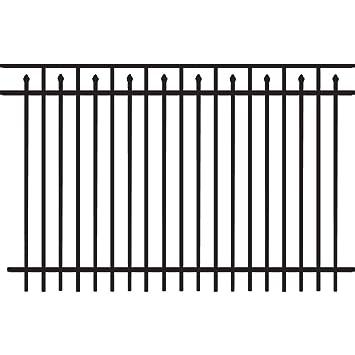 FREEDOM 96u0026quot; X 60u0026quot; Black Aluminum Fence Panel
