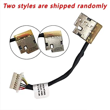 GinTai DC Power Jack Harness Cable Socket Plug Port Replacement for HP 799750-Y23 810327-006 15-cs0041nr 15-cs0042cl 15-cs0042nr