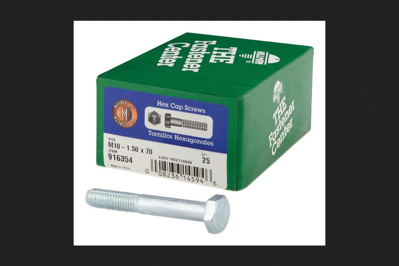 Hillman Metric Screws M10 Mm Grade 8.8 Fine Hex Cap Screws Hillman Group Rsc 916354 5168232
