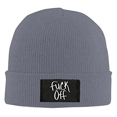 Cool Beanie Fuck Off Logo Beanie Caps at Amazon Men s Clothing store  349f70cd239