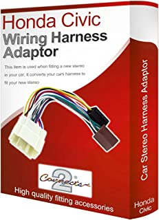 honda cr v cd radio stereo wiring harness adapter lead amazon co uk