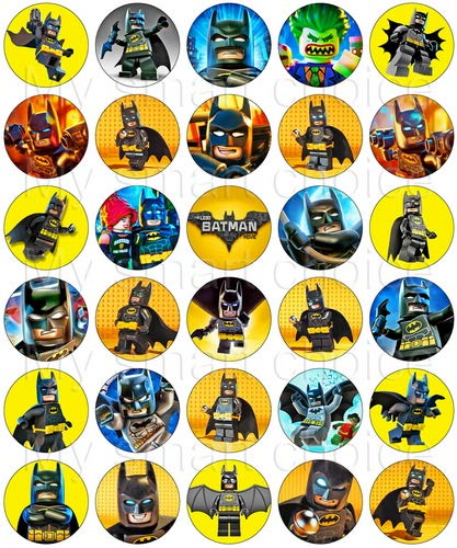 30 x Edible Cupcake Toppers  Batman Themed Collection of Edible Cake Decorations | Uncut Edible Prints on Wafer Sheet