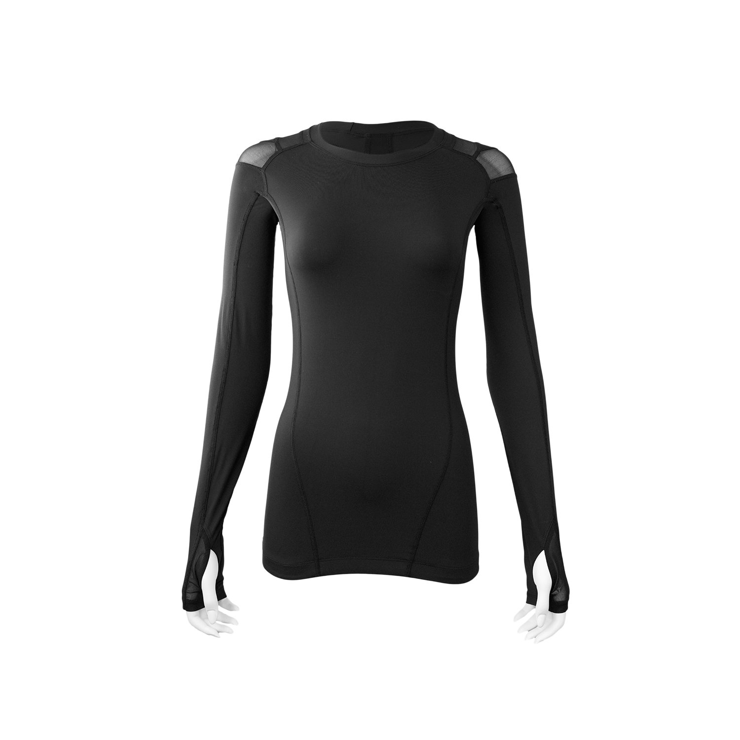 IntelliSkin Women's Foundation Long Sleeve (Medium) Black