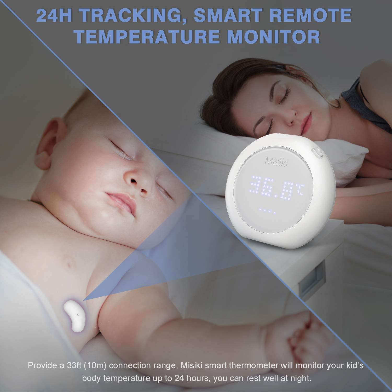 Misiki ROHS//FDA 24 h term/ómetro port/átil para adultos y ni/ños monitor de temperatura corporal inteligente Term/ómetro digital para beb/és