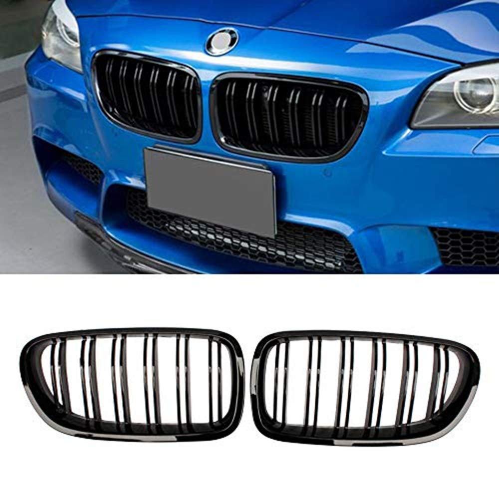 Zonsoon Front Grille//Grilles Kidney Grille Replacement for BMW 2010-2016 F10 5 Series 520i 523i 525i 528i 530i 535i 550i Glossy Black ABS