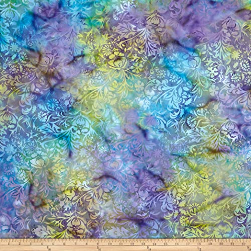 Island Batik Eclectic Garden Cherwell Mardi Gras Fabric by The -