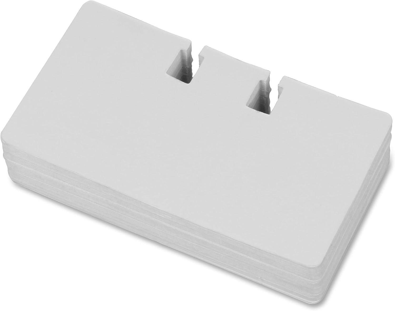 LLR01028 Lorell Business Card File Flat Card File Clear//Black