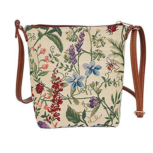 Modische Tapisserie Damen Schlingetasche oder Messengertasche Morning Garden idJw4OV36w