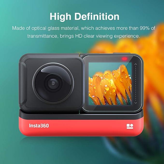Protección de cristal blindado lámina para insta 360 one R 4k Edition protección claro Hybrid