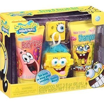 Amazon Com Spongebob Squarepants Soap Scrub Set Bath Set