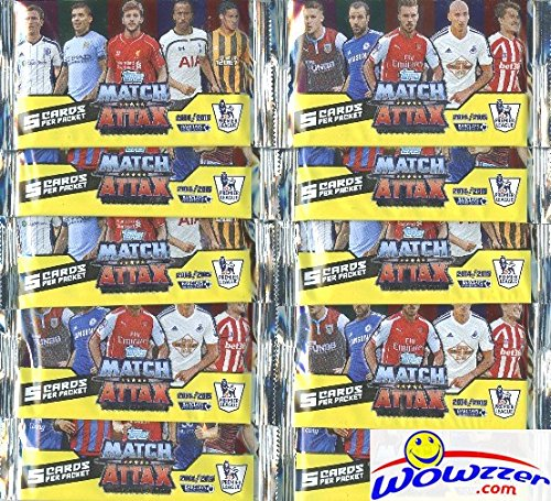 2014-2015-topps-match-attax-premier-league-soccer-lot-of-ten-factory-sealed-foil-packs-includes-50-c