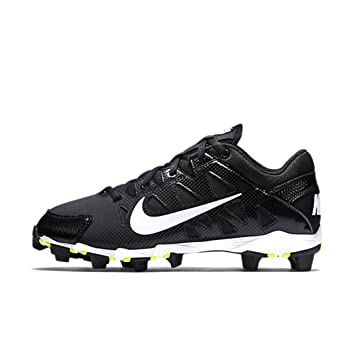 Nike Womens Hyperdiamond Keystone Baseball Cleat Black/White Size 6.5 M US