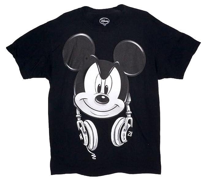 168ca7bb3 Disney Mickey Mouse DJ Headphones Mens T Shirt Top - Black White M