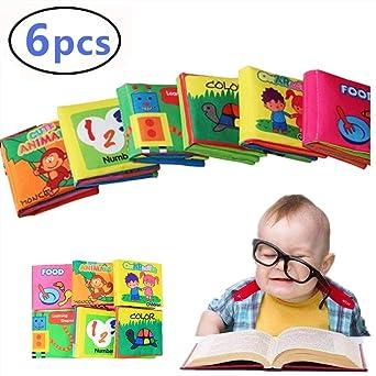 DQTYE Le premier livre sur le b/éb/é doux commence /à apprendre doucement Livres pour tout-petits Belle activit/é de d/éveloppement du cerveau Chiffon en tissu B/éb/és /Éducation pr/écoce Histoire Soft