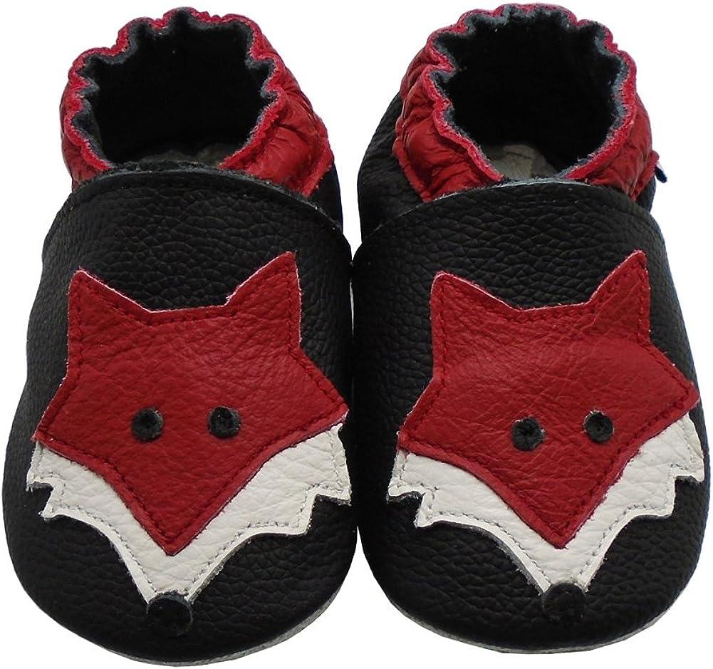 Mejale Chaussons Cuir Souple Chaussures Cuir Souple Chaussons Enfants Pantoufles Chaussures Premiers Pas Dessin anim/é Renard