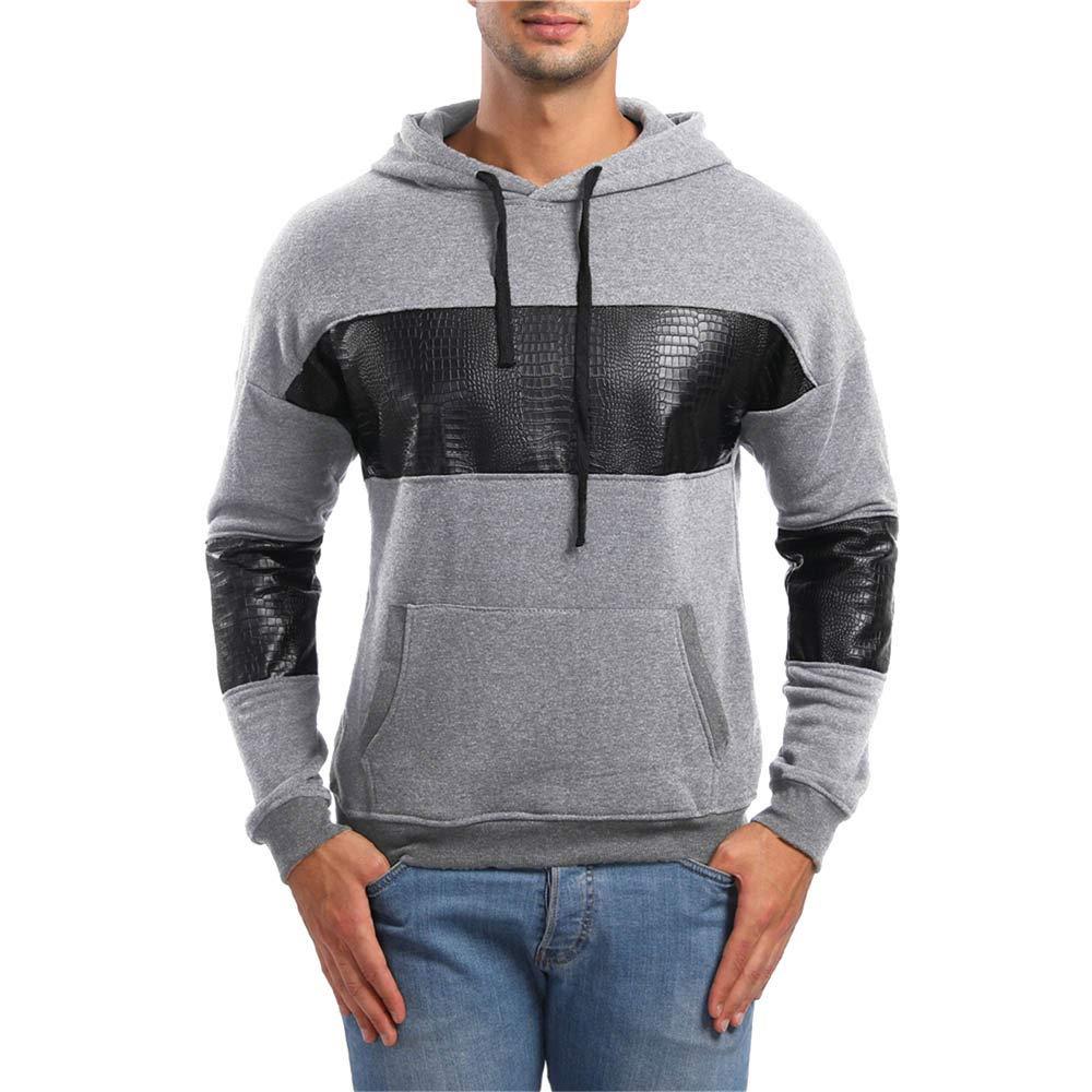 Amazon.com: SamMoSon Pullover Hoodie Men Lightweight,Mens Autumn Long Sleeve Pockets Hoodie Hooded Sweatshirt Top Tee Outwear Blouse: Clothing