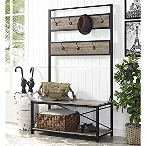 Amazon Com We Furniture Industrial Metal And Wood Hall
