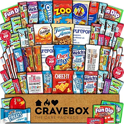 CraveBox Care Package (60 Count) Snacks