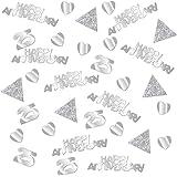 Neu Jubil/äum Silber Glitter Hochzeit Heirat f/ünfundzwanzig Feier Motto Napkins 25 Jahre f/ür die Silberhochzeit 16 Servietten