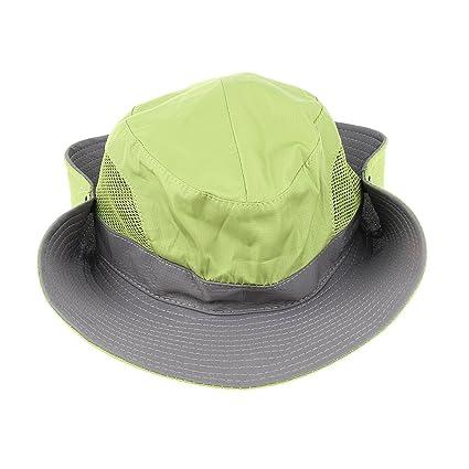 2d99c96881578 MagiDeal Outdoor Wide Brim Hat Fishing Bucket Bonnie Safari Sun Cap - Green