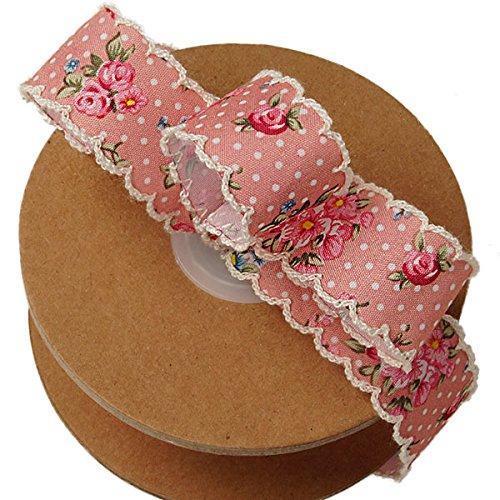 - Vintage Floral Shabby Chic Ribbon - 1