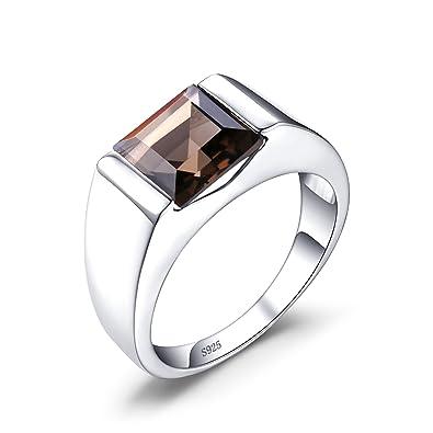 Herrenringe  Jewelrypalaces 3.4ct Luxus Gentleman Natürliche Braun Rauchquarz ...