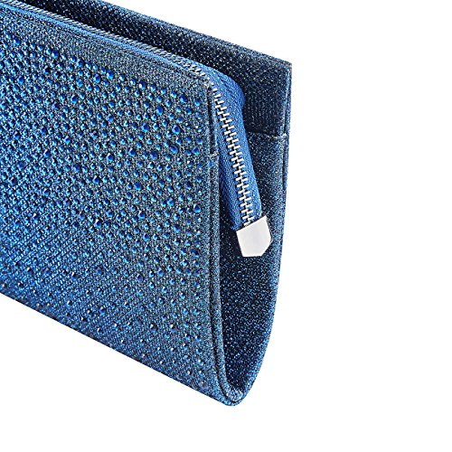 Party Formal Bag Clutches Blue Women Rhinestone Frosted GGBAZZARA Bag Purses Evening Wedding Clutch AFqCgBS