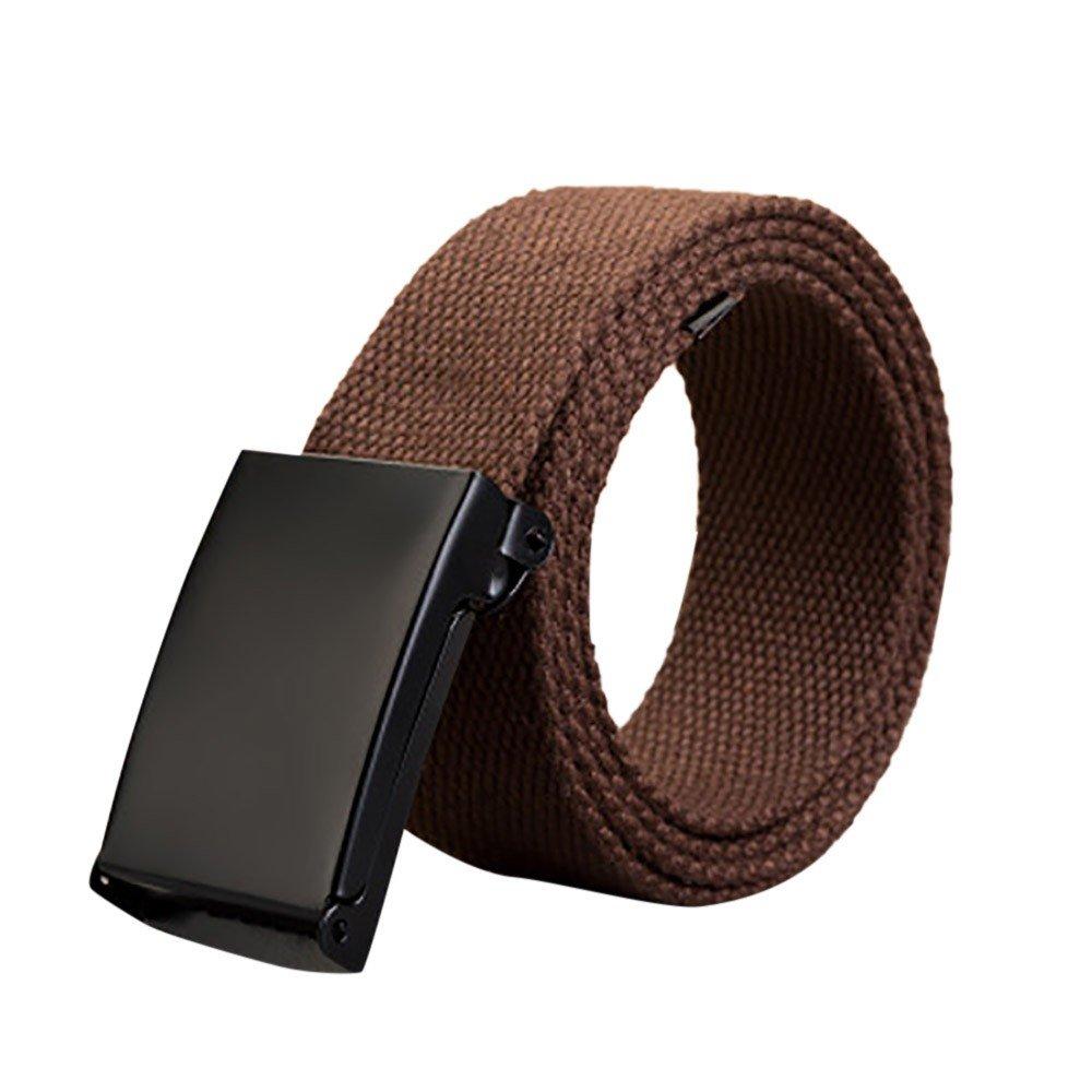 Canvas Belt Men Women Web Belt Men's Military style Web Belt Braided Belt Unisex Flip-Top Black Buckle Adjustable