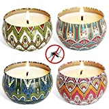 Best Citronella Candles - YIIA Citronella Scented Candles Set 4 Natural Soy Review