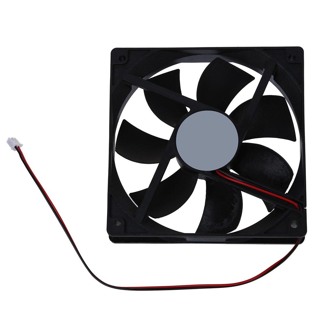 R 120 millimetri x 25mm 12V 2Pin manica cuscinetto ventola di raffreddamento per Computer Case SODIAL